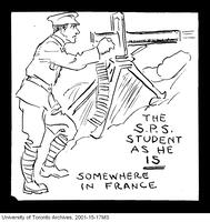 The SPS student in France, World War I