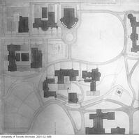 Partial plan of the grounds of the University of Toronto