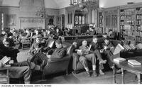 Students in Military Uniform in the Hart House Library