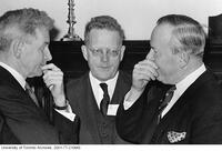 A.B.B. Moore, Northrop Frye and Prime Minister Lester B. Pearson in 1963.