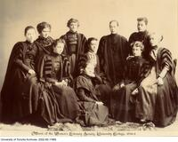 Officers of the Women's Literary Society University College, 1894-1895