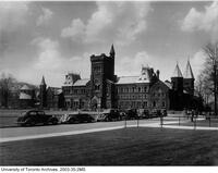 University College, view from south east with cars in foreground