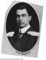 Graduation portrait of Thomas Wood Brown, BASc 1910.