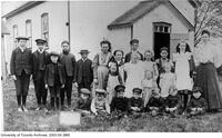 School children from School Section No. 1 South Norwich around 1900