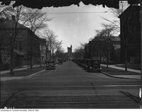 View of main roadway looking from College St. to University College, April 13 1927