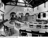 Library, interior view before addition of 1912