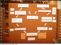 Pathfinder display in the Sigmund Samuel Library