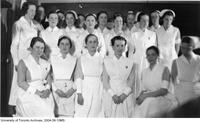 Group of Nursing students in uniform.