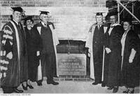 Laying the cornerstone of the New Building (Nursing), Oct. 30 1952.