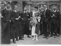 Marjorie Hill, graduate of architecture seen graduating with fellow male students