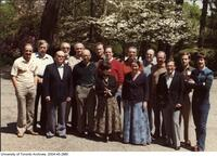 Prof. Ernest A. McCulloch shown here (3rd from right) with colleagues at the Symposium on Cell Multiplication.