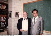 Prof. Ernest A. McCulloch shown here with an unidentified Japanese colleague.