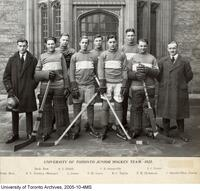 University of Toronto Junior Hockey Team - 1922