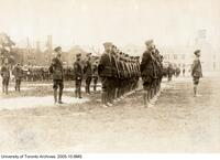 Royal Flying Corps, on parade, back campus.