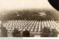 Royal Flying Corps, tents on back campus.