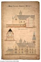 "Architectural drawing of ""Old Knox College"" (1 Spadina Cres.)"
