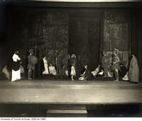 "Stage scene of Hart House Theatre production ""The Trojan Woman"""