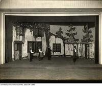 "Stage scene of Hart House Theatre production ""Rasmus Montanus"""