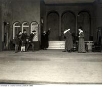 "Stage scene of Hart House Theatre production ""The Alchemist"""