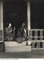 "Stage scene of Hart House Theatre production ""The Toils of Yoshitomo."""