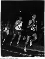 Famous Snell vs Crothers race in the 880 Yrd at Toronto International Track Meet, Varsity Stadium, June 10 1965