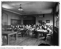 University of Toronto Schools, students in library, 1920