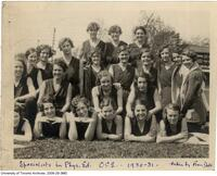 Specialists in Physical Education, Ontario College of Education, 1930-31