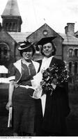 Marianne Marshall and Mitsu Kameko graduating from Ontario College of Education, 1940