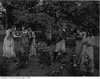 "Scene from ""Quality Street by J.M Barrie"", produced by the Faculty of Education Dramatic Club, May 2 1919"