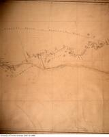 Hand drawn map by John Galbraith of canoe route taken from Rupert's House to Lake Mistassini in July and August 1881