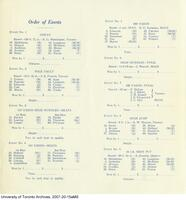 Programme Annual Senior Intercollegiate Track Meet, Oct. 1935, (Inside)