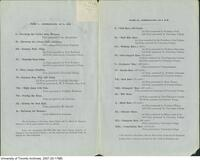 University College Athletic Sports - Sports Day Programme 1871 - (inside)