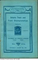 Programme for the Ontario Track and Field Championship, Aug 10th 1929 (cover)
