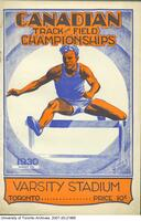 Programme for the Canadian Track and Field Championships Aug 9th 1930 - (cover)