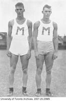 Harold and Wally Brown, jumpers with Canada's 1938 Empire Games Team