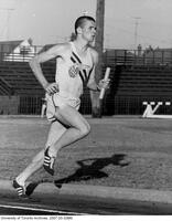 Dominion Day Meet at East York, July 1 1966: Dave Bailey running a relay