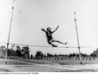 Woman high jumper