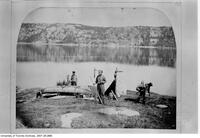Prof. Galbraith's campsite, canoe trip from Lake Mistasami to Rupert's House, July 23 1881