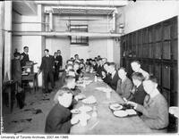 University of Toronto Schools - students in lunch room