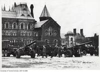 C.O.T.C. -Howitzers in front of University College
