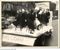 Nursing Float for Homecoming Float Parade, 1948