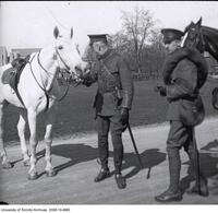 Two C.O.T.C. soldiers with horse