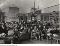 Students in uniform in Hart House library