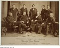 Professors and Graduating Class in Modern Languages, 1880. University College, Toronto.
