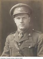 Thain MacDowell, University of Toronto graduate, awarded the Victoria Cross for his bravery in the battle at Vimy Ridge.