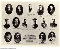 In Memoriam Graduates and Undergraduates of the Faculty of Forestry killed in Action in the War of 1914-1918.