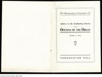 [Programme] Opening of the Organ, June 6 1912