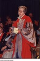 Dr. Ursula Franklin receiving an Honorary Degree from the University of Toronto