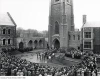 Armistice Day Service at Soldiers' Tower, Nov. 11 1935