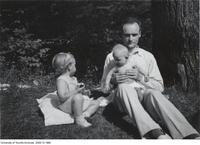 Donald Coxeter with his two young children